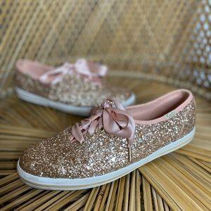 Keds x Kate Spade | Pink glitter sneakers | sz 5.5
